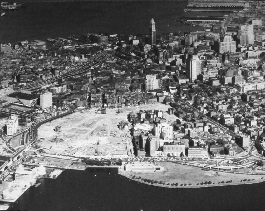 The West End of Boston was razed in urban renewal projects that were common in the second half of the 20th Century. Similar devastating impacts are still felt by many communities, and have tainted redevelopment and urban intensification efforts ever since. Photo credit: West End Museum