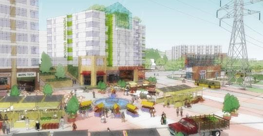 Employment-based redevelopment near the Rainier Beach light-rail station would create an ideal location for a farmer's market.