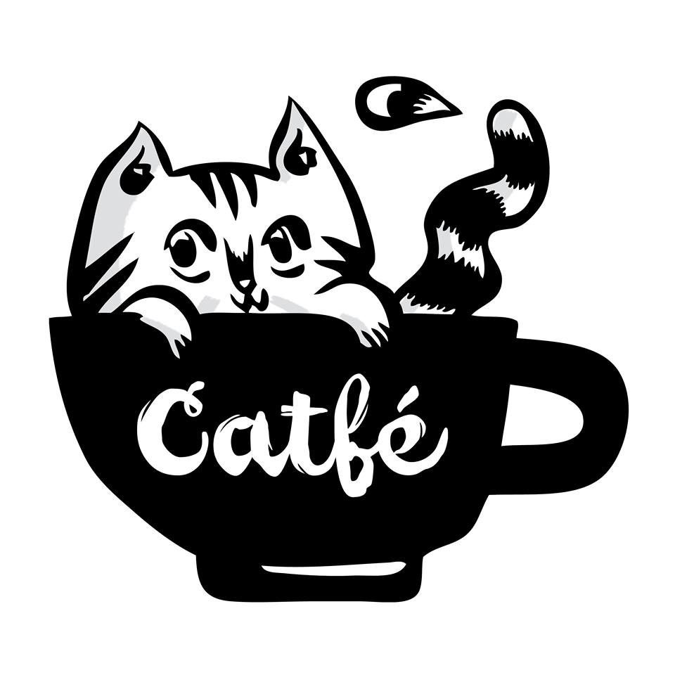 Catfe Logo Illustration Rob Ondzik